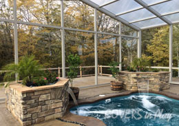 Des Moines Iowa Retractable Pool Enclosure