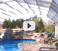 Pool enclosures from Covers in Play automatically open effortlessly